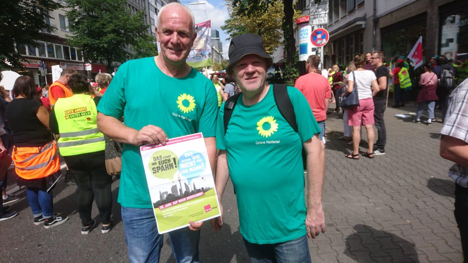 Grüner Ortsverband beteiligt sich an Pflege-Demo in Düsseldorf
